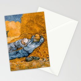 """Vincent van Gogh """"Noon: Rest from Work"""" Stationery Cards"""
