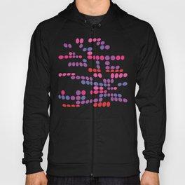 Dottywave - Red Pink Purple wave dots pattern Hoody