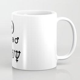 Planetary Symbols Coffee Mug