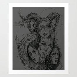 Blackthorne Sisterhood Art Print