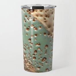 Melting Gold - Encaustic painting on stone Travel Mug