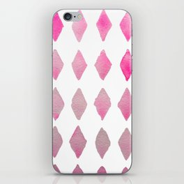 harlequin pink iPhone Skin