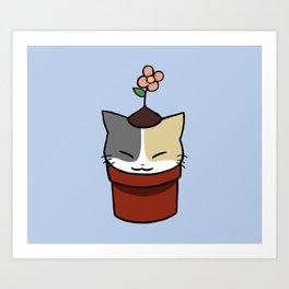 Potted Cat Art Print