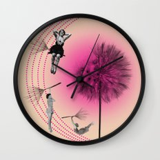 Let's fly away on a dandelion Wall Clock