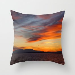 marvelous sunset over the sea Throw Pillow