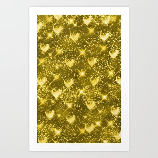 Shiny Gold Art Print
