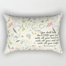Deuteronomy 6:5 Rectangular Pillow