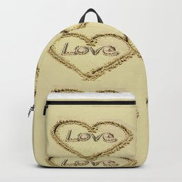 Love Harts in the Sand Backpack