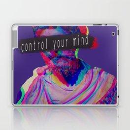 Control your mind vaporwave statue Marcus Aurelius Laptop & iPad Skin