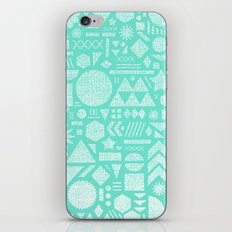 Modern Elements with Turquoise iPhone Skin