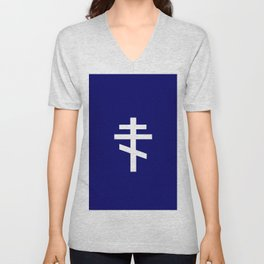 orthodox or russian cross 2 Unisex V-Neck