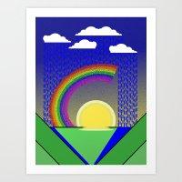 Rainbow of happiness Art Print