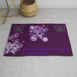 Power Purple For a Cure - For The Future Rug