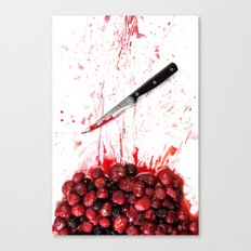 Healthy bloody Eating Canvas Print