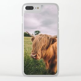 Epic Highland Cow Clear iPhone Case