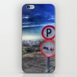 Do not swim with the dolphin iPhone Skin