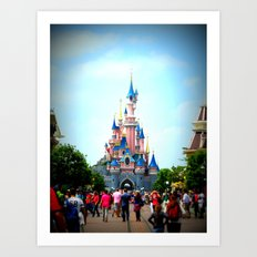 Disneyland Castle Art Print