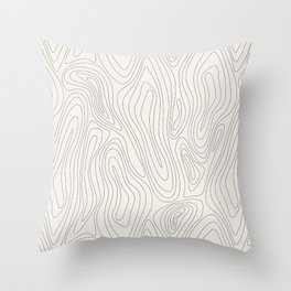 Organic abstract pattern (4) Throw Pillow