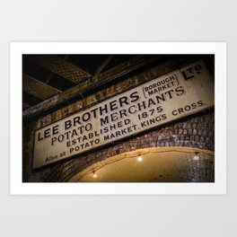Lee Brothers Sign at Borough Market, London   Color   Street & Travel Photography   Photo Art Print Art Print