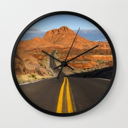 Valley of Fire Wall Clock
