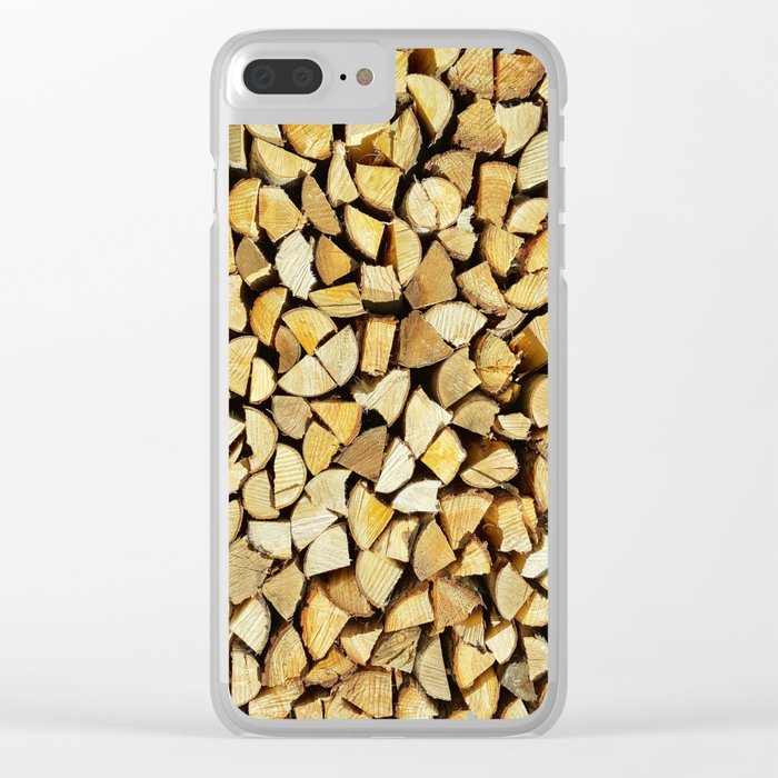 Wood, rustic pattern Clear iPhone Case