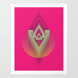 Pink Descent Art Print