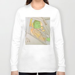 Driving Buddha Grey Long Sleeve T-shirt