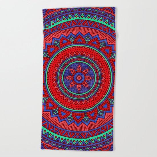 Hippie mandala 60 Beach Towel