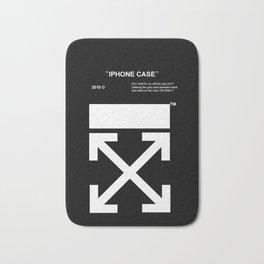 Off White Iphone Case Bath Mat