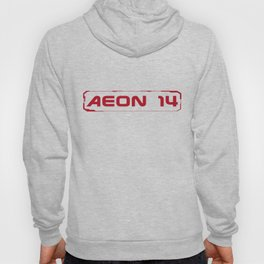 Aeon 14 Logo Only - RED Hoody