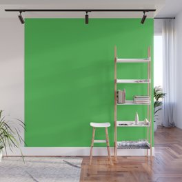 Solid Bright Kelly Green Color Wall Mural