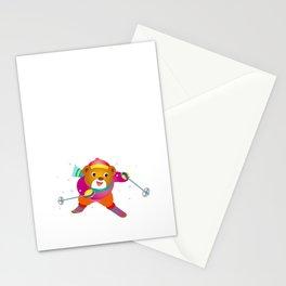 Bear to ski Stationery Cards