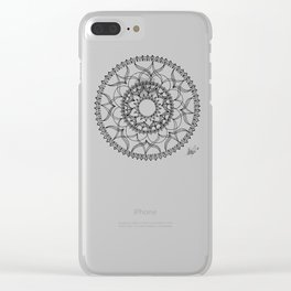 Dove Black and White Clear iPhone Case