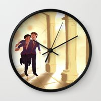 klaine Wall Clocks featuring Dalton by CRAZiE-CRiSSiE