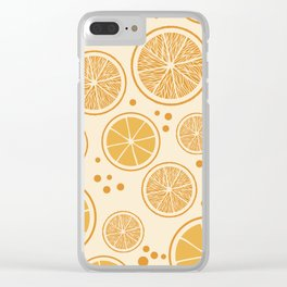 Fresh orange juice pattern, from the Orange Blossom Pattern Collection Clear iPhone Case