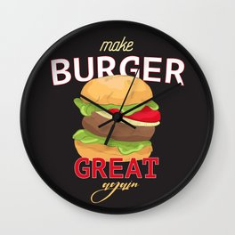 Make Burger great again Wall Clock