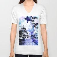 berlin V-neck T-shirts featuring Berlin  by LebensART