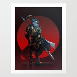 Anzel the Wolf Art Print