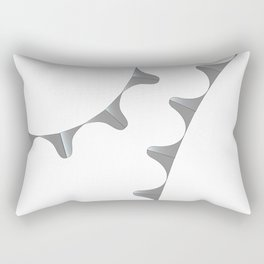 Bicycle Gear Teeth Rectangular Pillow