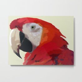 Digitally Manipulated Parrot Metal Print