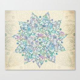 Mermaid Dreams Mandala Canvas Print