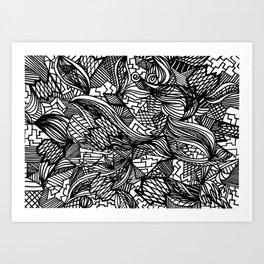 Pattern Crazy Art Print