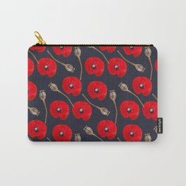 Poppy Pattern Carry-All Pouch