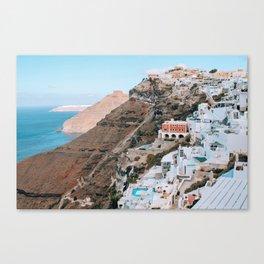Whitewashed | Santorini, Greece Canvas Print