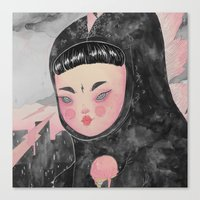 loll3 Canvas Prints featuring CuteZilla by lOll3