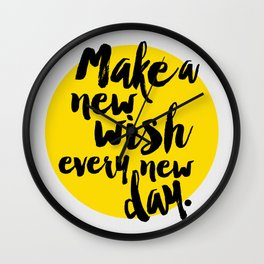 New Wish Wall Clock
