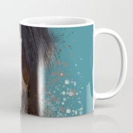 Black Brown Horse Artwork Coffee Mug