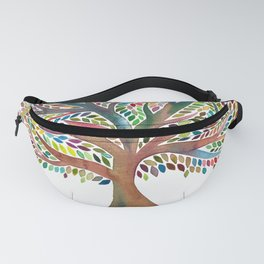 Tree of Life Watercolor – Rainbow Palette Fanny Pack