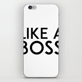 Like A Boss Print, Faux Gold Leaf Art, Inspirational Quote, Typographic Print, Motivational Print, G iPhone Skin