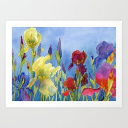 Blue Skies and Happiness Art Print